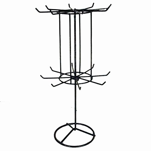 Large Black 16 Inch Counter Wire Spinning Display Rack - ...
