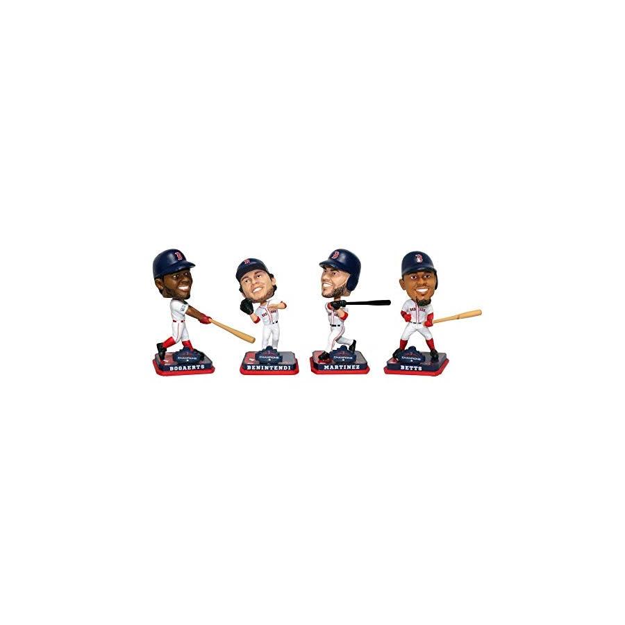 MLB Boston Red Sox 2018 World Series Champions Mini Bobbleheads 4 pack Set PRE ORDER Ships Week of December 10th