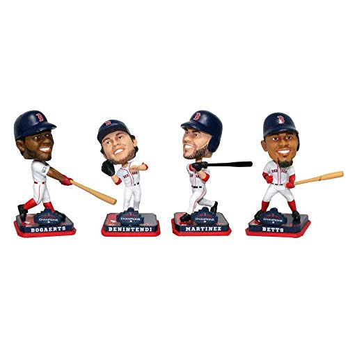 MLB Boston Red Sox 2018 World Series Champions Mini Bobbleheads 4-pack Set - PRE ORDER Ships Week of December 10th