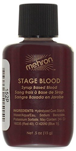Blood Makeup (Mehron Makeup Mehron Makeup Stage Blood, BRIGHT ARTERIAL for Special Effects| Halloween| Movies-)
