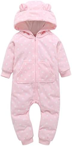 [Patrocinado] dayseventh Infant Baby Boy Girl Cute con capucha Romper Jumpsuit Outfit Home ropa