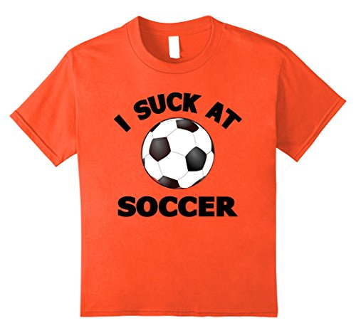 Soccer Player Halloween Costume For Girls (Kids I Suck at Soccer T-Shirts: Soccer Halloween Player Costume 10 Orange)