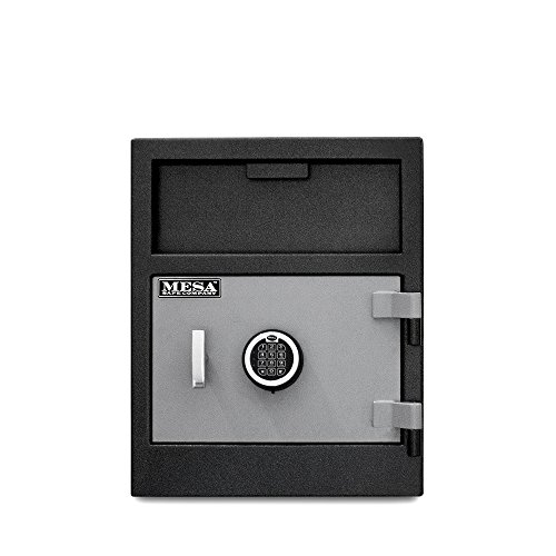 MESA MFL2118E 1.9 cu ft Depository Safe, All Steel with Electronic Lock, Two-Tone Black/Grey
