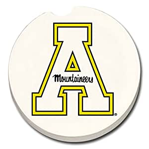 Appalachian State Absorbent Stone Car Coaster - Pack of 2