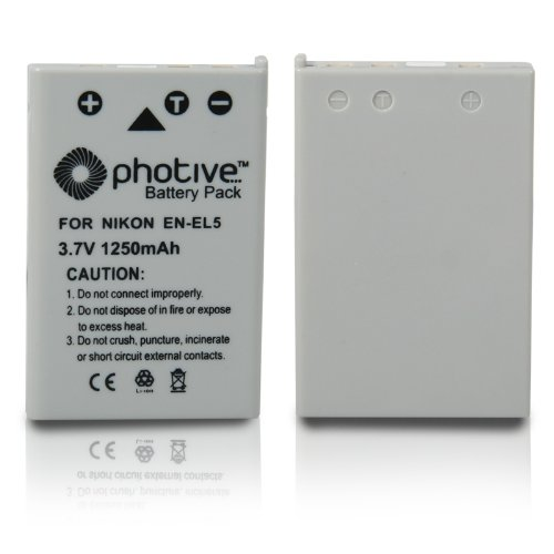 [해외]Photive Original EN-EL5 초 고용량 리튬 이온 배터리 - Nikon EN-EL5 교체/Photive Original EN-EL5 Ultra High Capacity Li-ion Battery- Nikon EN-EL5 Replacement