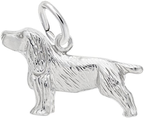 Rembrandt Springer Spaniel Dog Charm - Metal - Sterling Silver