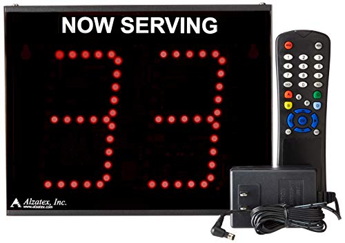 Alzatex 2-Digit Take-a-Number Display with 2 Buttons and Infrared Remote