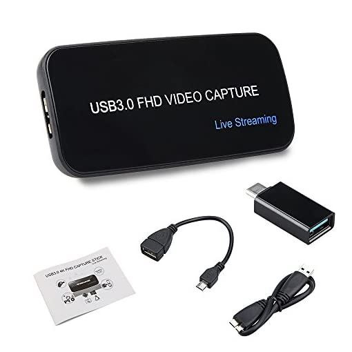 Game Capture HDMI USB 3 0 FHD Drive-free 4K 1080P 60FPS Live Streaming  Video Box Black Superior Low Latency Technology For PS3 PS4 Wii Support  XSplit