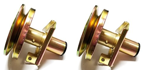 2 Spindle Assemblies Replaces John Deere AM128048 AM126112, Has Grease Fitting
