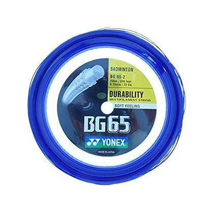 Yonex Yonex BG 65 200m  660 ft  Badminton Strings  Royal Blue, One Size