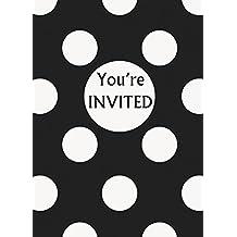 Black Polka Dot Invitations, 8ct
