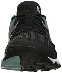 adidas Outdoor Women\'s Kanadia 8 Trail Running Shoe, Black/White/Vapour Steel, 5.5 M US