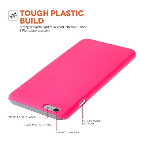Yousave Accessories Handyschutzcover/Case, mit Mini Stylus (für iPhone 6, Plus, Hot Pink
