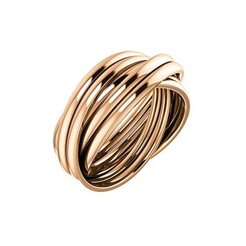 Bonyak Jewelry 14k Rose Gold 6-Band Rolling Ring - Size 6.5 ()