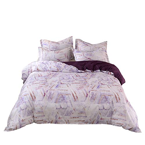 Togethor Bedding 3-Piece Bedspread Coverlet Set Bedding Ethnic Style Simple Plain Quilt Cover Pillowcase Without Sheets 3PCS ()