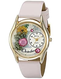 Whimsical Watches Unisex Kids C-0910010 Classic Gold Birthstone: October Quartz White Dial Watch