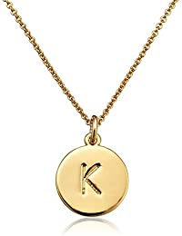 Gold-Tone Alphabet Pendant Necklace, 18""