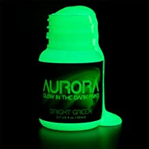 Glow in the Dark Paint, 1.7 oz (50ml), Aurora Bright Green, Non-Toxic, Water Based, by SpaceBeams