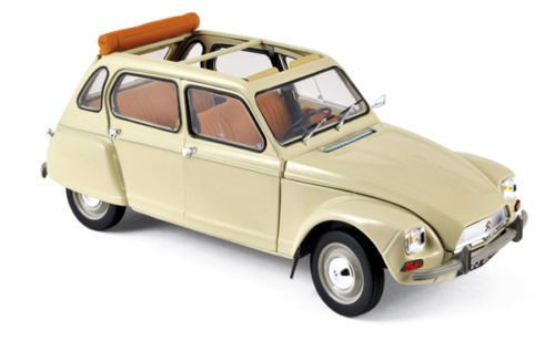 NEW 1:18 W/B NOREV COLLECTION - ERABLE BEIGE 1970 CITROEN DYANE 6 Diecast Model Car By Norev