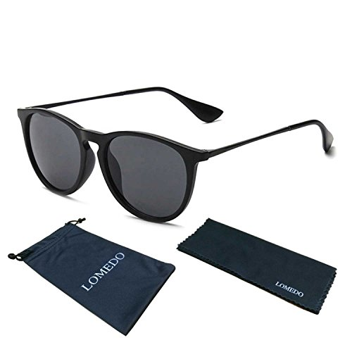 LOMEDO Simple Stytle Retro Sunglasses Round Matt Frame Grey - Designer Sale On Sunglasses