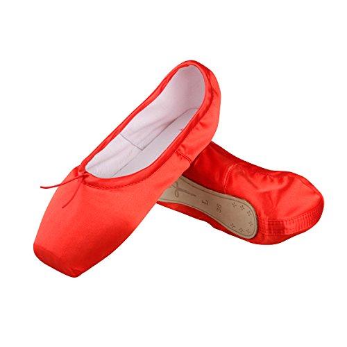 Spitzenschuhe Ballerinas für Mädchen/Damen mit spitzenschuhe schooner und spitzenschuh band Größe 34-40(Bitte wählen Sie eine Größe mehr als üblich)