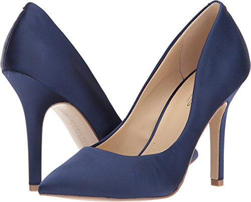 Charles Di Charles David Womens Maxx Pump Midnight Satin