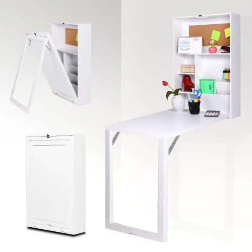 Mesa plegable escritorio multiusos Blanco: flashselection: Amazon ...