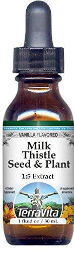 Milk Thistle Seed & Plant Glycerite Liquid Extract (1:5) - Vanilla Flavored (1 oz, ZIN: 522739)