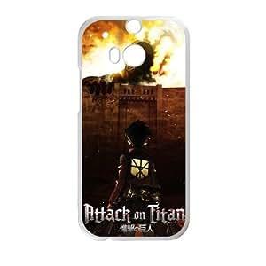 HTC One M8 case , Attack On Titan HTC One M8 Cell phone case White-YYTFG-18803