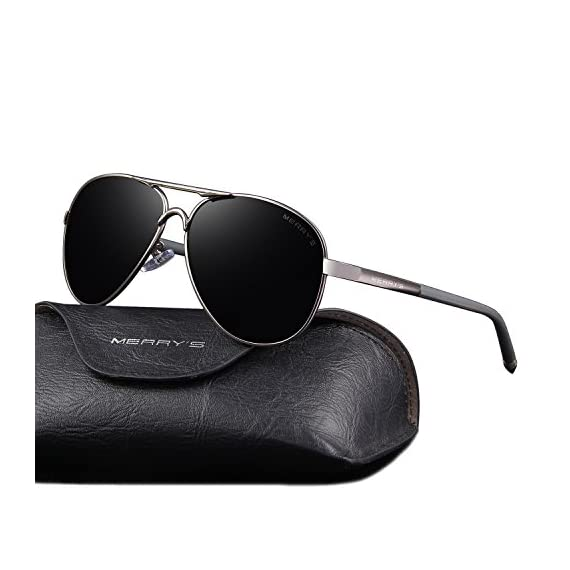 MERRY'S Men's Polarized Driving Sunglasses For Men Unbreakable Frame UV400 S8513 1 POLARIZED LENS - Polarized sunglasses reduce glare reflected off of roads, bodies of water, snow, and other horizontal surfaces. Restore true color, eliminate reflected light and scattered light and protect eyes perfectly. Polarized sunglasses cut glare and haze so your eyes are more comfortable and you can see better. STYLE-2016 Newest Brand Design,It is Suitable For Any Face, Show Your Unique And High-end Taste. Suitable- Houseboat ,Driving, Running, Fishing,Racing, Skiing and Climbing, Trekking and Business Or Other Outdoor Activities Enthusiasts