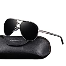 Men's UV400 Polarized Driving Sunglasses with Unbreakable Frame