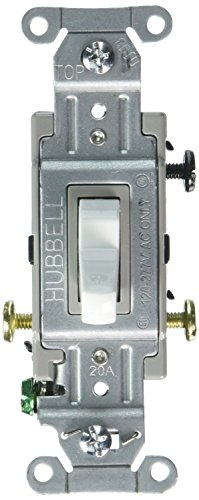 Hubbell Switch - Hubbell CS320W Commercial Specification Switch, 3 Way, 20 amp 120/277V, White