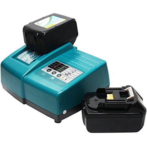2-Pack - Makita BTW251Z Battery + Universal Charger for Makita Replacement - For Makita 18V BL1830 Power Tool Battery and Charger (3000mAh, Lithium-Ion)