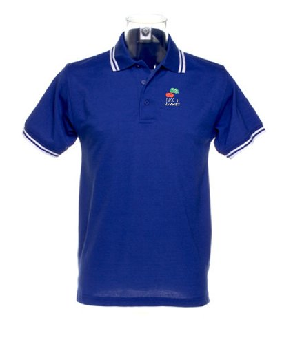 Twig N Berries logoPolo Shirt - Royal Blue with White