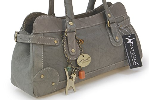 CARNABY Gris Bolso Cuero de COLLECTION mano ST CATWALK 7qx5pc