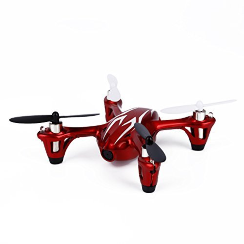 Hubsan X4 H107C 2.4G 4CH 6 Axis Gyro RC Quadcopter RTF with Camera & LED Lights - Red