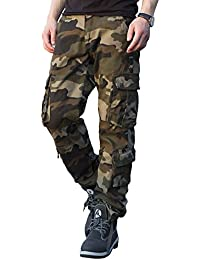 Men's Military Cargo Pants Loose Fit Wild Camo Hunting Combat Trousers Daily Basic Work Pants