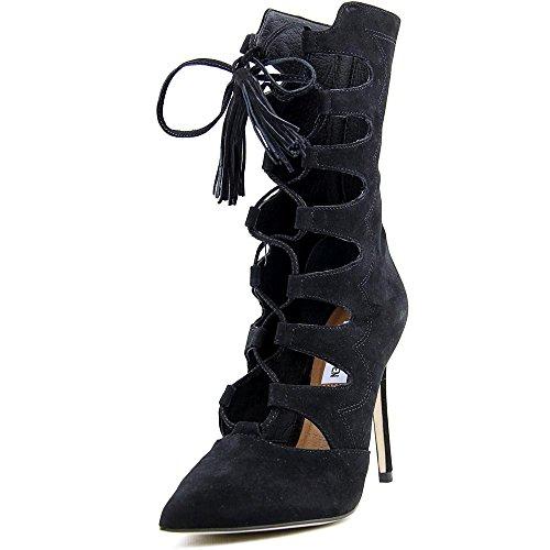 Black Pump Calf Boot (Steve Madden Women's Piper Boot, Black Nubuck, Size 5.5)