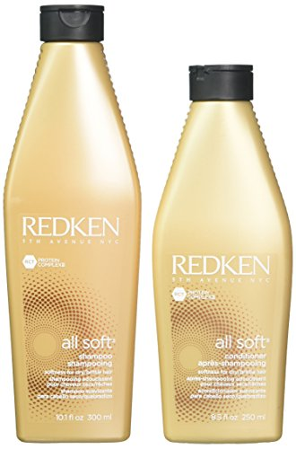 Redken All Soft Shampoo & Conditioner Duo, 2 Count (Best Shampoo And Conditioner For Soft Hair)