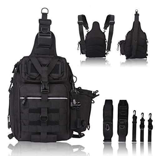 BLISSWILL Fishing Backpack Outdoor Tackle Bag Large Fishing Tackle Bag Water-Resistant Fishing Backpack with Rod Holder Shoulder Backpack