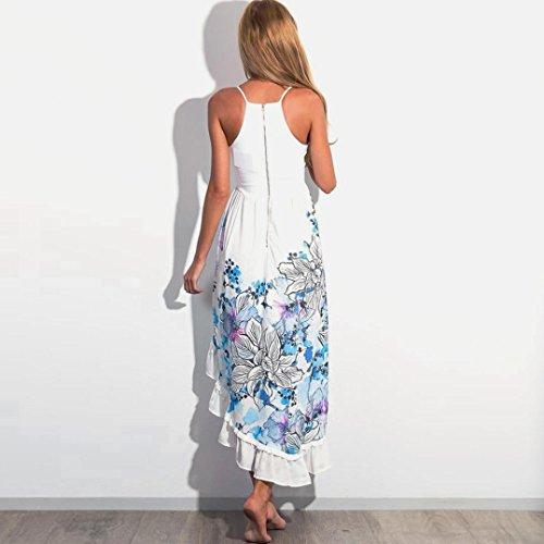 SKY Celebrate for the Summer !!! La Sra vestido del dobladillo de hendidura arnés impresa falda del vestido Blanco Blanco