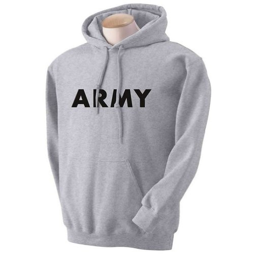 ARMY Hooded Sweatshirt in Gray - Large - Army Military Hooded Sweatshirt Shopping Results