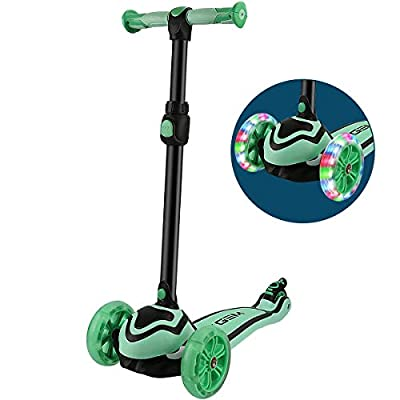 JOYGEM 2-in-1 Kids Scooter with Removable Seat, Deluxe 3 Wheel Kick Scooter, Led Flashing Wheels & Adjustable Handlebar for 2-12 Years Boys Girls by JOYGEM