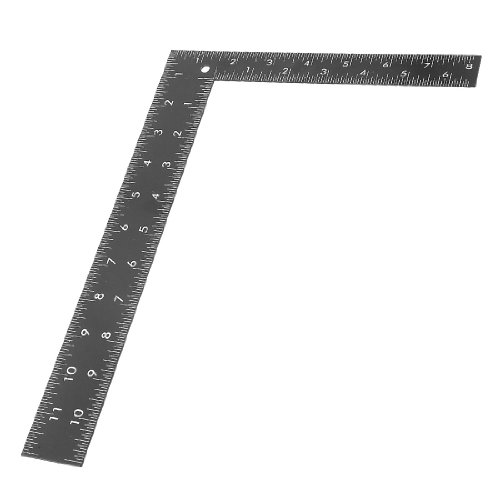 Uxcell a13120200ux0191 Metal 90 Degree Angle 0-30cm 0-20cm Scale Square Ruler