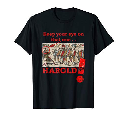 Quirky, Medieval Bayeux Tapestry, Funny Historic T-shirt