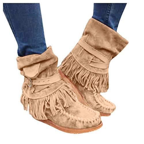 [해외]Driuankeji Shoes for Women Flats Comfortable Suede Ankle Boots Women`s Fashion Fringe Booties / Driuankeji Shoes for Women Flats Comfortable Suede Ankle Boots Women`s Fashion Fringe Booties Brown