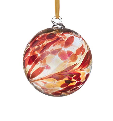 (Sienna Birthstone Glass Friendship Ball January, Garnet)