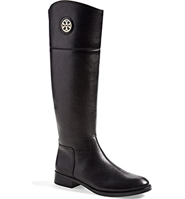 2824bfb2d4e6 Amazon.com | Tory Burch Tumbled Leather Junction Riding Boots (5 ...