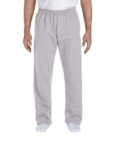 Gildan 9.3 oz. Ultra Blend 50/50 Open-Bottom Sweatpants, Sports Grey, Large (50 Open Bottom Sweatpants)