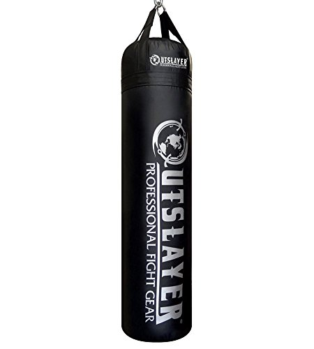 Outslayer Filled Punching Bag Boxing Training Practice MMA Heavy Bag 100 Pound Made in USA (Black)
